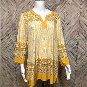 Charter Club L Ornate tunic dress long sleeve